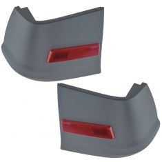 10-13 Ford Transit Connect Torque Gray Rear Bumper End Cap Cover w/Red Reflector PAIR (Ford)