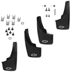 99-07 Silverado; 02-06 Avalanche; 00-06 Subrbn w/Flares Front & Rear Molded Mud Flap (Set of 4) (GM)