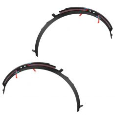 2015 Chevy Corvette Molded Black Plastic Front Wheel Opening Molding PAIR (GM)