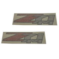 07-13 Silverado, Sierra 1500; 07-14 2500, 3500 Rear Bed Side Mounted ~'Z71 4x4~ Decal PAIR (GM)