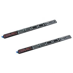 01-07 GMC Sierra 2500HD Front Door Mounted ~GMC 2500 HD~ Logoed Adhesive Nameplate PAIR (GM)