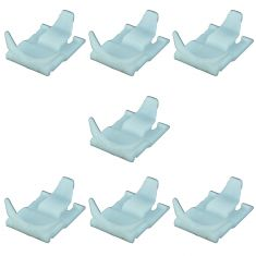 95-05 Hyundai Accent Front Door Mtd Outer Belt Weatherstrip Molding Retainer Clip Set of 7(Hyundai)