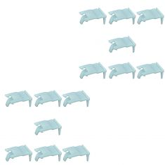 95-05 Hyundai Accent Front Door Mtd Outer Belt Weatherstrip Molding Retainer Clip Set of 14(Hyundai)