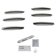 13-15 Mercedes Benz GL Class; 12-15 ML Class Hood Mounted Chrome Hood Fin Kit (Mercedes Benz)