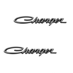 71-74 Dodge Charger Fender Mtd Classic Script Chrome