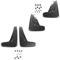 11-14 Dodge Durango Molded Black Plastic Front & Rear Splash Guard Mud Flap (Set of 4) (Mopar)