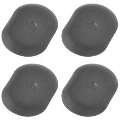02-13 Ram 1500, 03-13 2500, 3500; 00-10 Dakota Molded Black Plastic Bed Drain Plug Set of 4 (Mopar)