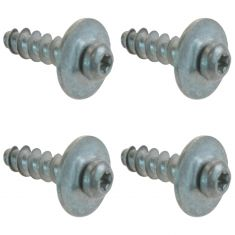 Chrysler; Dodge; Jeep Multifit Fog Light Bezel Mounting Installation Screw Set of 4 (Mopar)