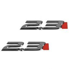 04-09 Mazda 3 Front Door Mounted Chrome ~2.3~ Adhesive Nameplate Emblem Pair (Mazda)