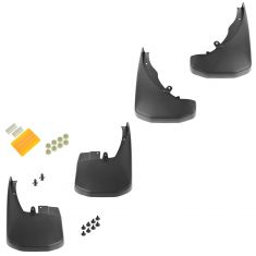 05-15 Nissan Frontier Molded Black Front & Rear Splash Guard Mud Flap Set of 4 (Nissan)