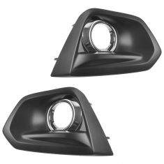 12-14 Subaru Impreza Limited Driving Fog Light Bezel w/Chrome Trim Pair(Subaru)