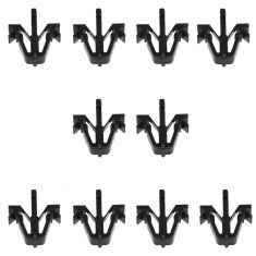 89-95 Toyota Pickup Truck; 90-02 4Runner; 95-04 Tacoma Grille Mounting Clip (Set of 10) (Toyota)