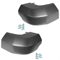 07-14 Toyota FJ Cruiser Rear Bumper Mounted Gray Plastic End Cap Pair & Clip Set (Toyota)