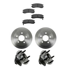 99-04 Alero; 99-05 Grand Am GT Rear Hubs, Ceramic Brake Pads, Brake Rotors Kit