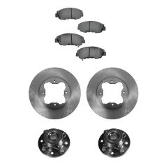 97 Acura CL; 91-97 Honda Accord Front Hubs, Ceramic Brake Pads, Brake Rotors Kit