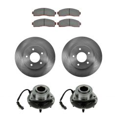 05-06 Equinox; 06 Torrent; 02-07 Vue Front Hubs, Ceramic Brake Pads, Brake Rotors Kit