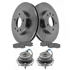 07-09 Equinox, Torrent; 08-09 Vue; 07-09 XL-7 Front Hub, Rotor, and Pad Kit