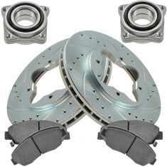 93-97 Accord Front Performance Rotor, Posi Ceramic Pad & Wheel Bearing Kit