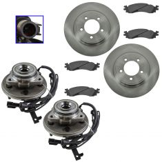 06-10 Explorer, 07-10 Sport Trac, 06-10 Mountaineer Front Hubs, Posi Ceramic Brake Pads & Rotor Kit