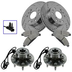 07 Tahoe,07 Escalade, 07 Escalade ESV, 07 Yukon,Performance Rotor, Ceramic Pad & Wheel Hub Kit