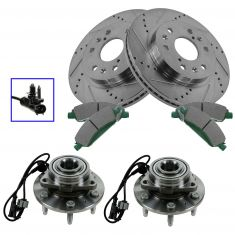 08-13 Escalade,08-13 Escalade ESV, 08-13 Escalade EXT,Performance Rotor, Ceramic Pad & Wheel Hub Kit