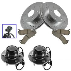 02-06 Escalade, 02-06 Avalanche 1500,03-08 Express ,Performance Rotor, Ceramic Pad & Wheel Hub Kit