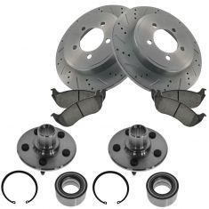 02-05 Explorer,02-05 Moutaineer, Rear Performance Brake Rotor,Premium  Ceramic Pads & Wheel Hub Kit