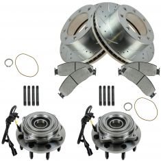 05-10 F-250 SD, 05-10 F-350 SD Front Ceramic Brake Pads,Performance Rotor & Hub Bearing Kit