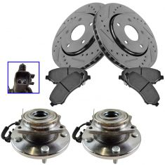 08-16 Town & Country,08-16 Grand Caravan,Ceramic Brake Pads,Performance Rotors & Hub Bearing Kit