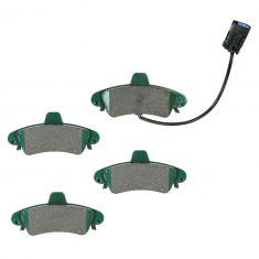 99-02 Mercury Cougar Rear Ceramic Disc Brake Pads w/Wear Sensors (CD899A)