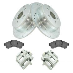 10-12 RDX, 07-11 CR-V, Rear Disc Brake Caliper, Ceramic Brake Pad &Performance Rotor Kit