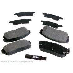 00-02 Inf G20, 00-01 I30, 02-04 I35, 00-03 Maxima, 02-06 Sentra Rear OE Hitachi Disc Brake Pad Set
