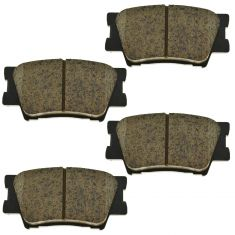 07-14 Lexus; 09-10 Vibe; 06-14 Toyota Multifit Rear Ceramic Disc Brake Pad Set (TOYOTA)