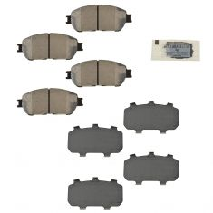 05-07 Avalon; 04-10 Sienna; 04-08 Solara; 05-14 Tacoma 2WD Front Ceramic Disc Brake Pad Kit (Toyota)