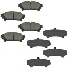 11-16 Toyota Sienna Rear Disc Ceramic Brake Pads w/Shims Kit (Toyota)