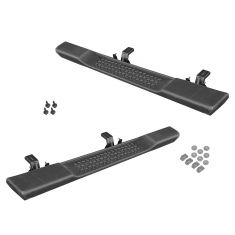 07-15 Jeep Wrangler 2 Door (exc Rock Rail Option) Factory Side Step Black Running Board PAIR (Mopar)