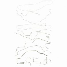 98-01 Ddge Ram 1500 Std Cab (w/8 Bed, 2WD, 4 Whl ABS) (11 Piece) Stainless Steel Brake Line Kit (DM)