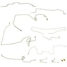 95-00 Tahoe, Yukon Classic w/4WD & Gas Engine (11 Pce) Stainless Steel Brake Line Kit (DM)