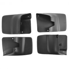 98-07 Ford Ranger (w/o Whl Lip Mlds) Front & Rear Molded Splash Guard Mud Flap (Set of 4) (Ford)