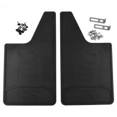 11-16 F250SD, F350SD, F450SD, F550SD ~Ford~ Logoed Hvy Duty Front Splash Guard Mud Flap PAIR (Ford)