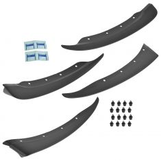 05-13 Chevy Corvette Front & Rear Molded Black Plastic Splash Guard Mud Flap Kit (Set of 4) (GM)