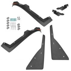 14-15 Chevy Camaro (w/o Ground Effects) Molded Txt Black Front & Rear Splash Guard Mud Flap Set (GM)
