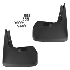 08-15 Chrysler Mini Van Molded Black Plastic Front Deluxe Splash Guard Mud Flap PAIR (Mopar)