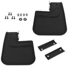 14-15 Ram Promaster Heavy Duty Black Rubber Molded Front Splash Guard Mud Flap PAIR (Mopar)