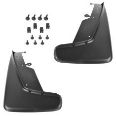 11-14 Dodge Durango Molded Black Plastic Front Splash Guard Mud Flap PAIR (Mopar)