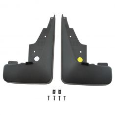 11-16 Jeep Patriot Molded Black Plastic Front Deluxe Splash Guard Mud Flap Kit PAIR (MP)