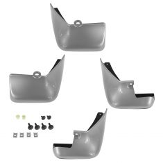 11-15 Nissan Leaf Front & Rear Brilliant Silver Splash Guard Mud Flap (Set of4) (Nissan)