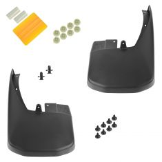 05-15 Nissan Frontier Molded Black Rear Splash Guard Mud Flap PAIR (Nissan)