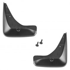 02-06 Nissan Sentra (exc SE-R) Molded Black Front Splash Guard Mud Flap PAIR w/Mtg Hrdwre (Nissan)