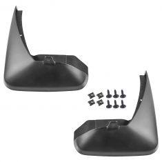02-06 Nissan Sentra Molded Black Rear Splash Guard Mud Flap w/Mtg Hrdware PAIR (Nissan)